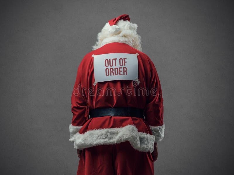 Μας της διαταγής Santa στοκ εικόνα