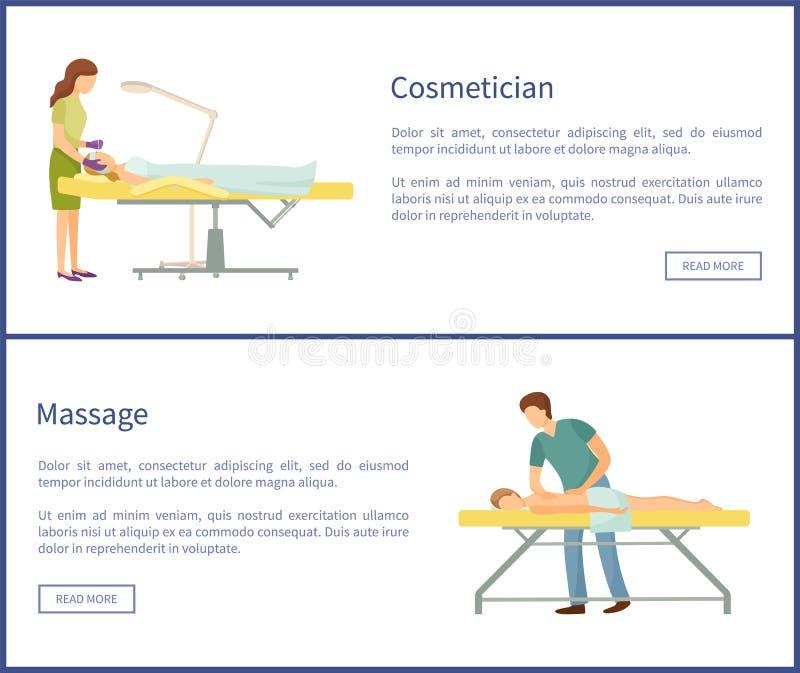 Μασέρ διαδικασιών Cosmetician και Massage Spa ελεύθερη απεικόνιση δικαιώματος