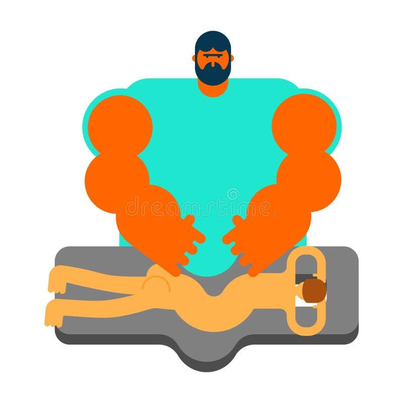 μασέρ Ειδικός για το μασάζ Πίνακας μασάζ ισχυρό άτομο του CH απεικόνιση αποθεμάτων