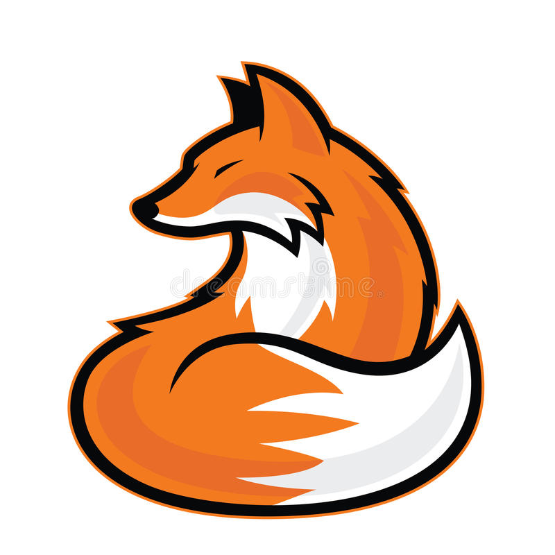Μασκότ αλεπούδων ελεύθερη απεικόνιση δικαιώματος