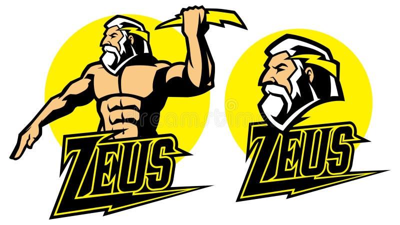 Μασκότ Θεών Zeus ελεύθερη απεικόνιση δικαιώματος