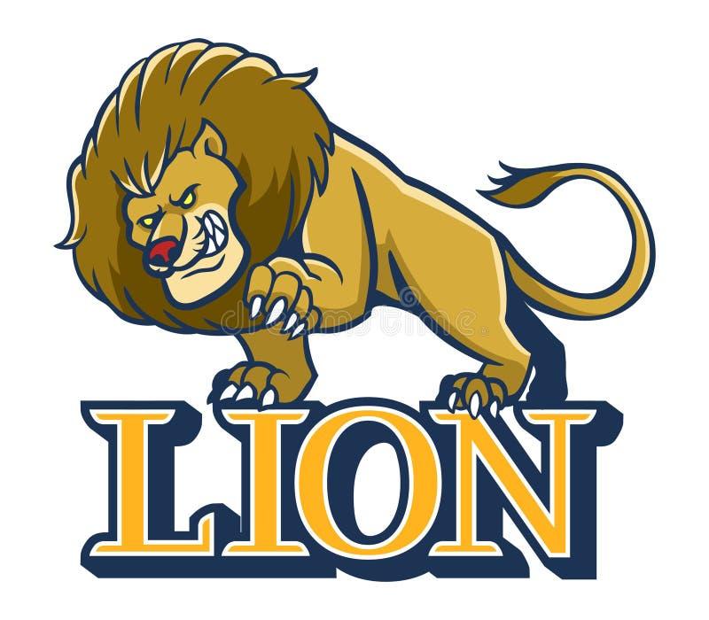 Μασκότ λιονταριών διανυσματική απεικόνιση