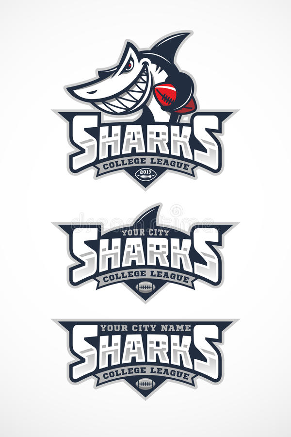 Μασκότ καρχαριών απεικόνιση αποθεμάτων