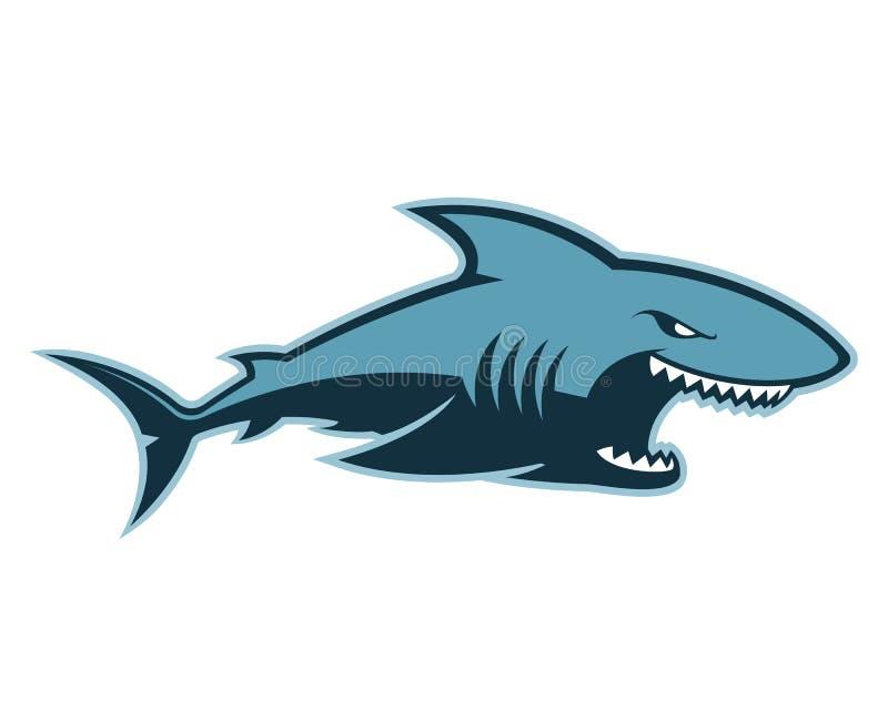 Μασκότ λογότυπων καρχαριών διανυσματική απεικόνιση