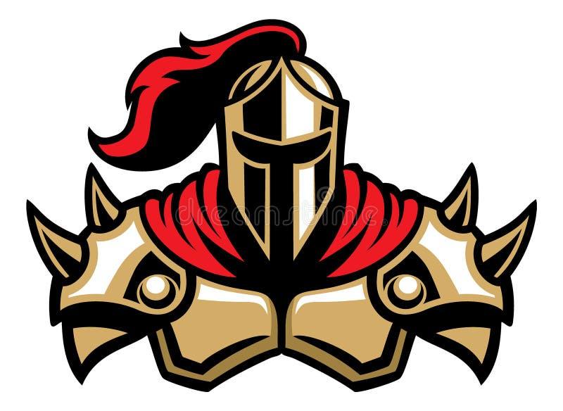 Μασκότ πολεμιστών ιπποτών ελεύθερη απεικόνιση δικαιώματος