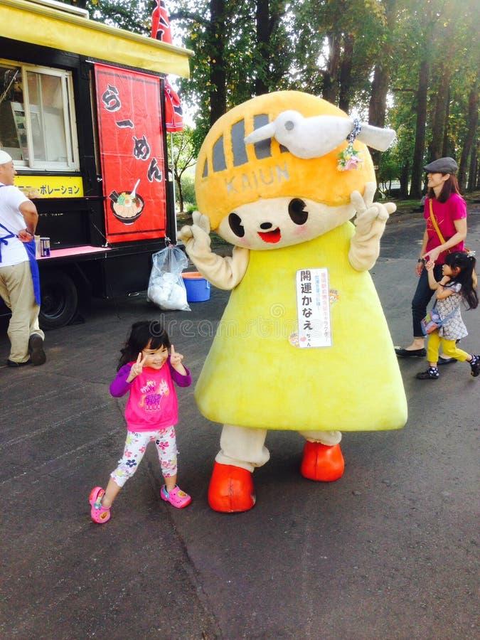 Μασκότ Katun στο Μοριόκα, Iwate στοκ εικόνες
