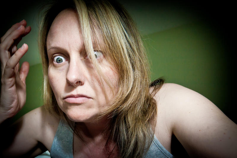 Ματαιωμένη γυναίκα στοκ φωτογραφίες