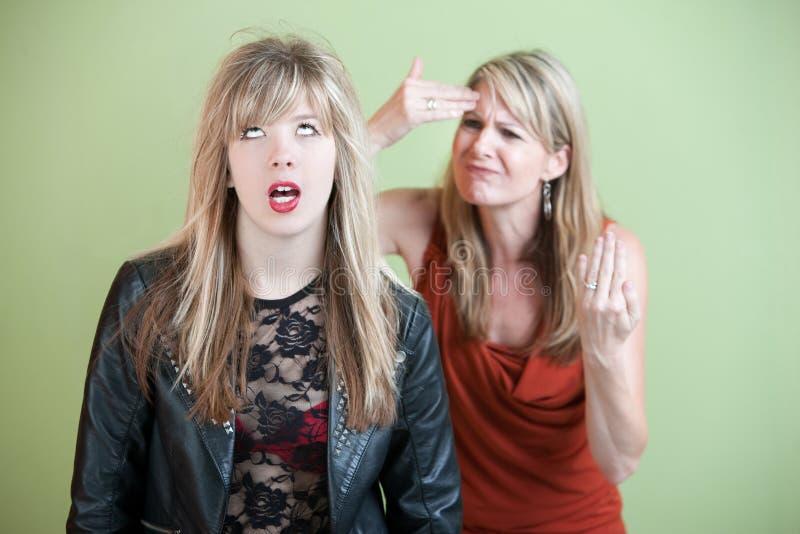 Ματαιωμένο Mom στοκ φωτογραφία