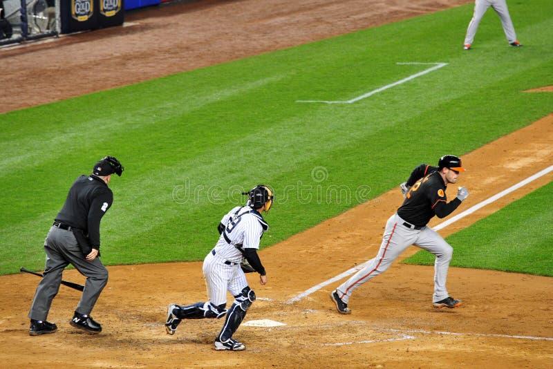 Ματ τρέξιμο Wieters Baltimore Orioles στοκ φωτογραφίες