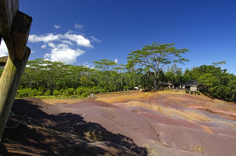 Μαυρίκιος Το πάρκο chamarel-επτά-χρώματος στοκ εικόνες