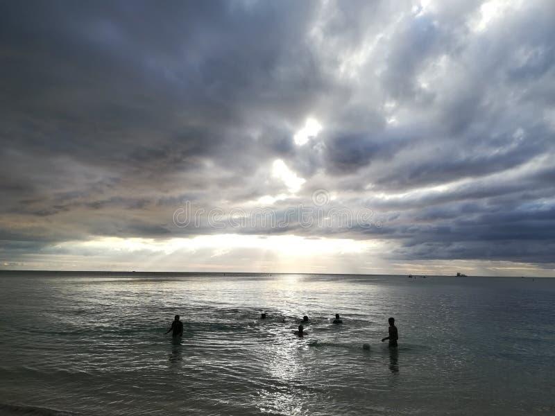 Μαυρικιανή παραλία άποψης στοκ φωτογραφία με δικαίωμα ελεύθερης χρήσης