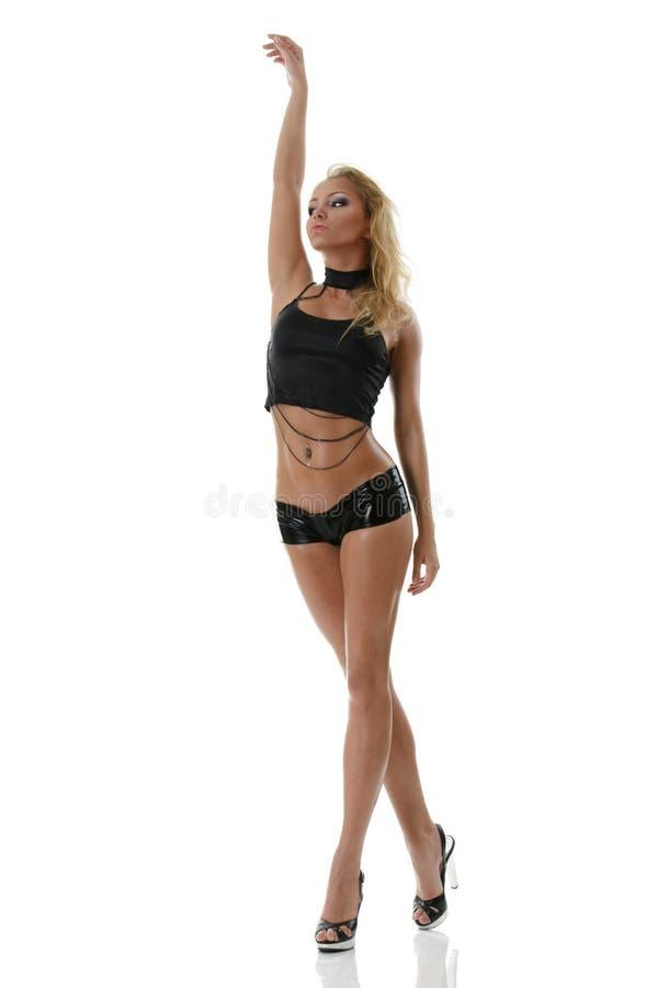 Μαυρισμένο μοντέλο μόδας στοκ εικόνες