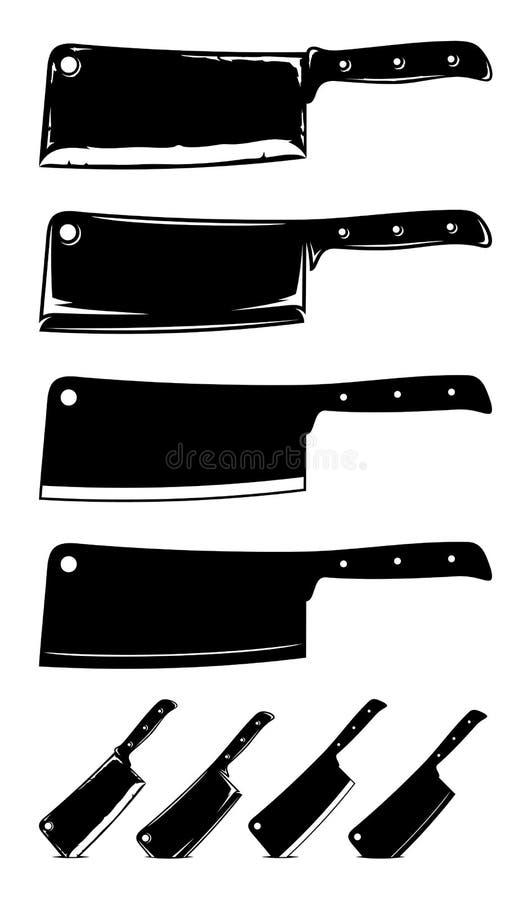 Μαχαίρια μπαλτάδων κρέατος ελεύθερη απεικόνιση δικαιώματος