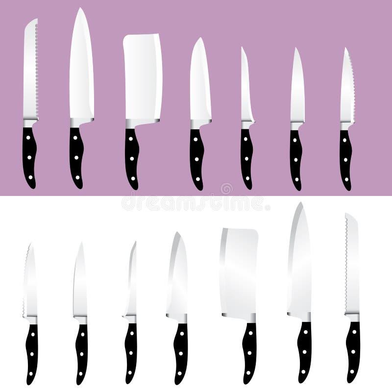μαχαίρια που τίθενται ελεύθερη απεικόνιση δικαιώματος