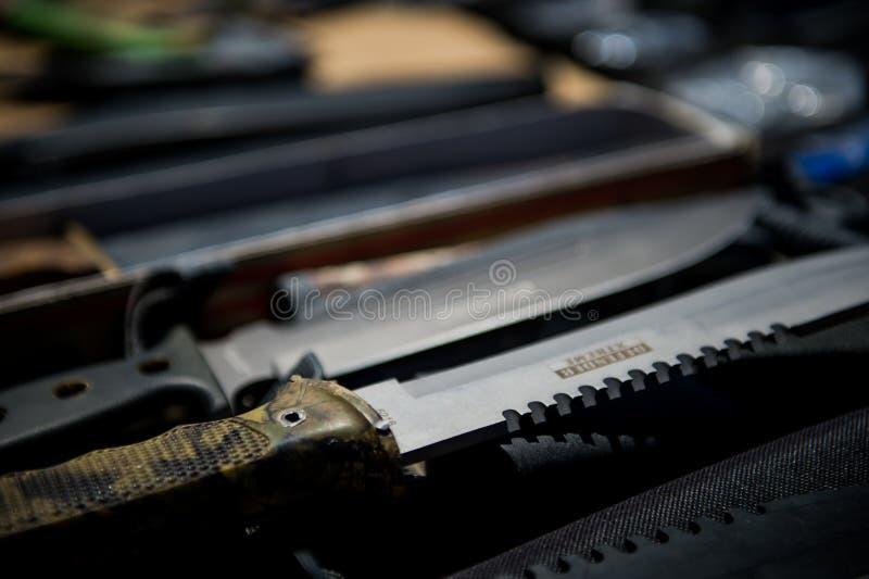 μαχαίρια Στρατιωτικά μαχαίρια στοκ εικόνες