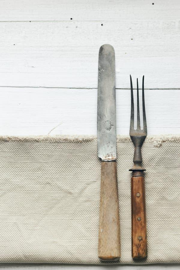 Μαχαίρι και δίκρανο στοκ εικόνα