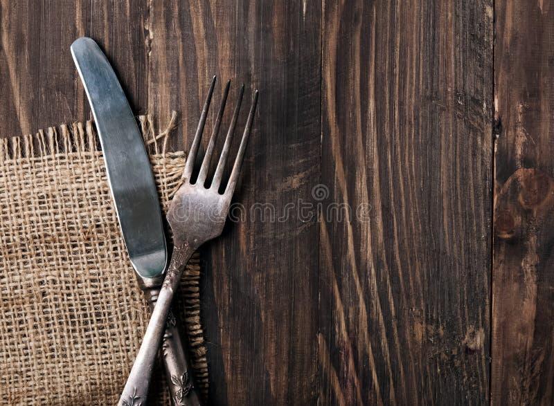 Μαχαίρι και δίκρανο στοκ φωτογραφίες
