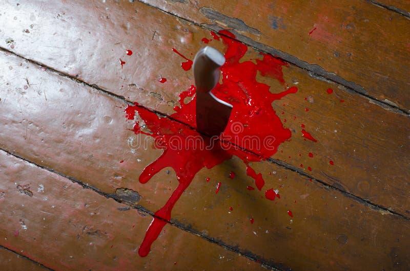 Μαχαίρι κουζινών στο αίμα στοκ εικόνα με δικαίωμα ελεύθερης χρήσης