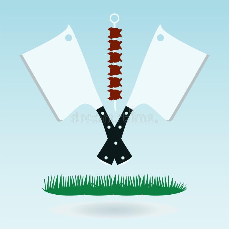 Μαχαίρι μπαλτάδων κρέατος, τσεκούρι για το κρέας, μπαλτάς κρέατος ελεύθερη απεικόνιση δικαιώματος