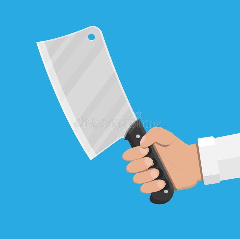 Μαχαίρι χασάπηδων Μαχαίρι μπαλτάδων κουζινών για το κρέας ελεύθερη απεικόνιση δικαιώματος