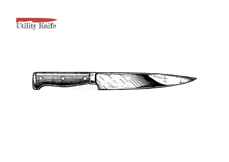 Μαχαίρι χρησιμότητας κουζινών διανυσματική απεικόνιση