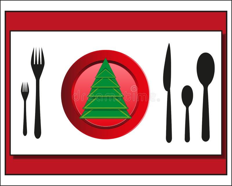 Download Μαχαιροπήρουνα επιτραπέζιας ρύθμισης Χριστουγέννων Διανυσματική απεικόνιση - εικονογραφία από πιατάκι, προετοιμασία: 62718839