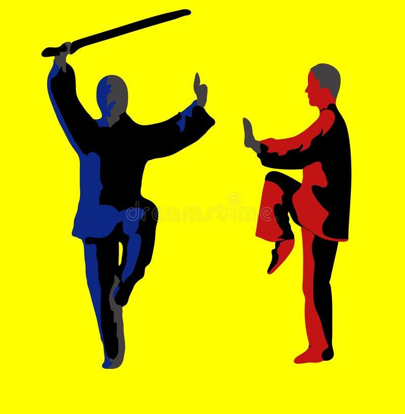 μαχητές δύο απεικόνιση αποθεμάτων