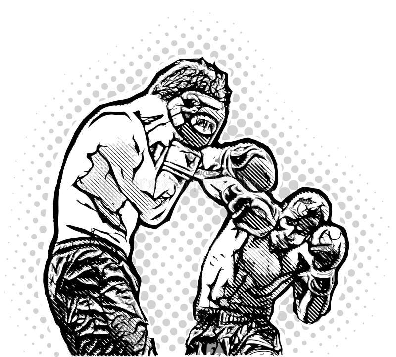 Μαχητές κιβωτίων ελεύθερη απεικόνιση δικαιώματος