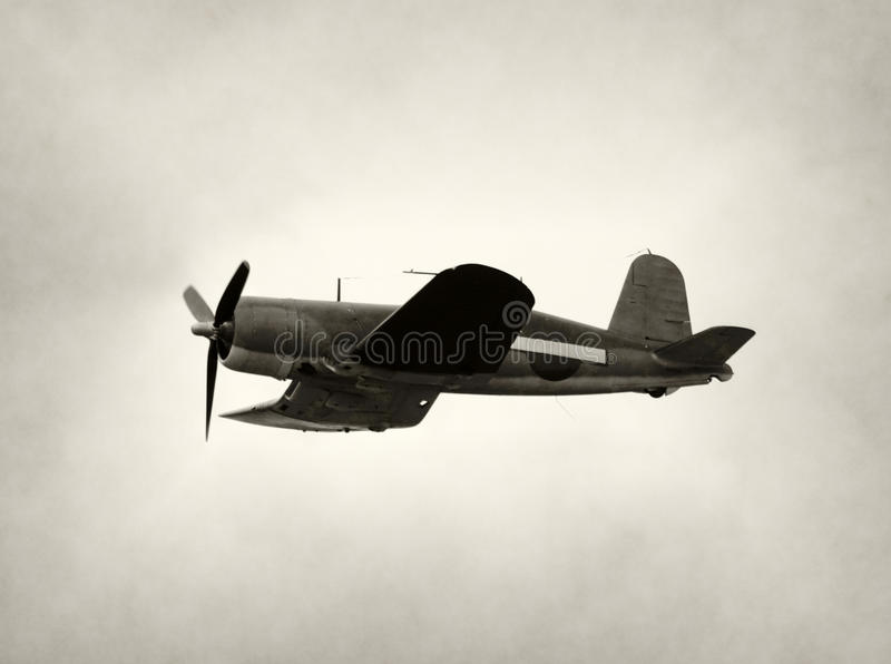 μαχητής αεροπλάνων παλαιό&s στοκ φωτογραφία με δικαίωμα ελεύθερης χρήσης