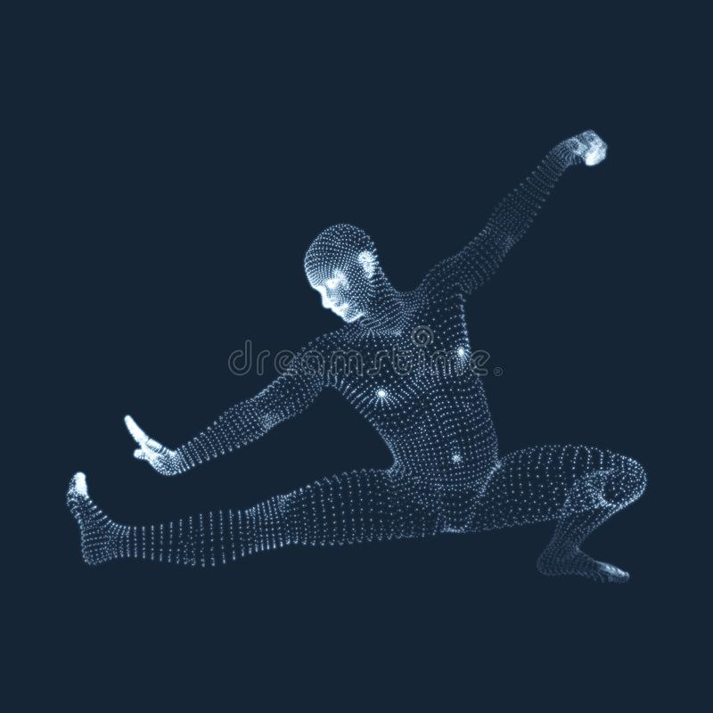 Μαχητής Kickbox που προετοιμάζεται να εκτελέσει ένα υψηλό λάκτισμα Ικανότητα, αθλητισμός, κατάρτιση και έννοια πολεμικών τεχνών τ απεικόνιση αποθεμάτων