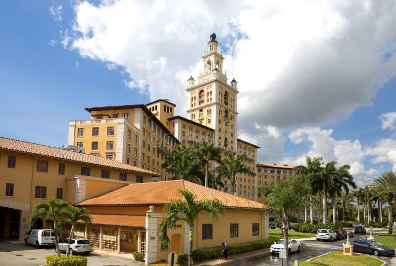 Μαϊάμι, ΗΠΑ, ξενοδοχείο Biltmore στα αετώματα κοραλλιών στοκ εικόνα με δικαίωμα ελεύθερης χρήσης