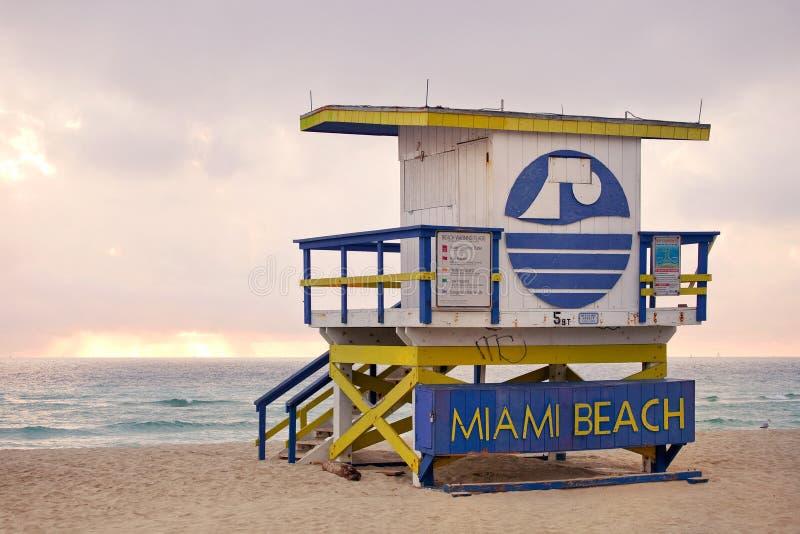 Μαϊάμι Μπιτς Φλώριδα, lifeguard σπίτι στοκ εικόνες με δικαίωμα ελεύθερης χρήσης