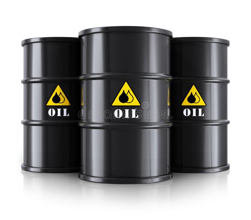 Μαύρα βαρέλια πετρελαίου απεικόνιση αποθεμάτων