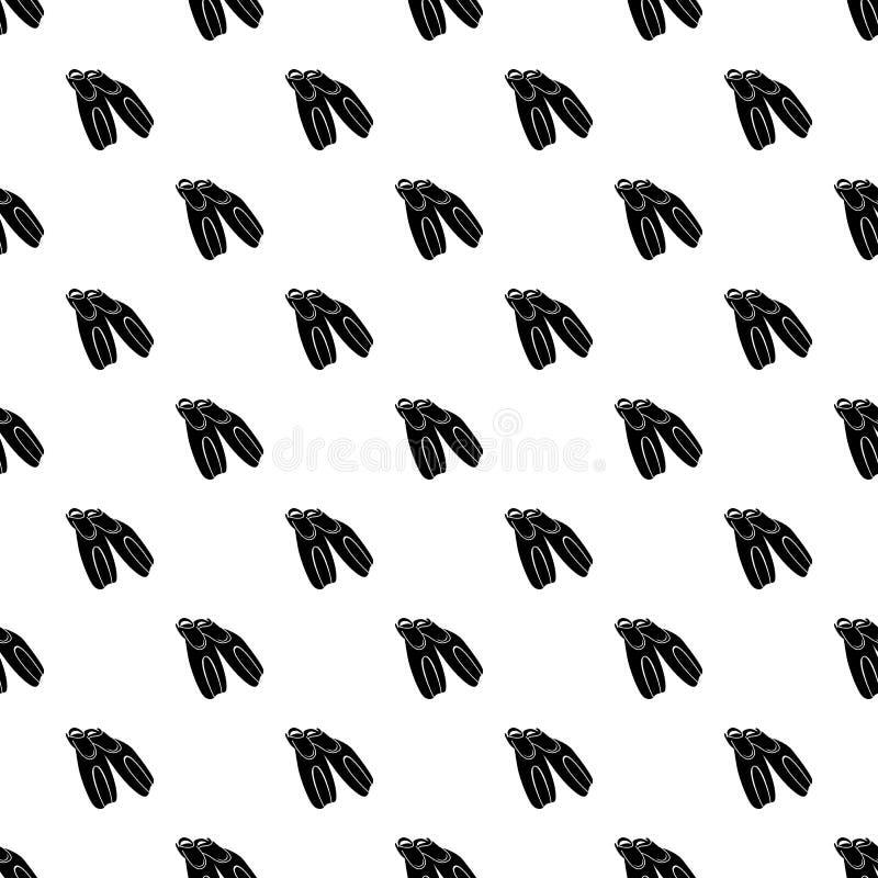 Μαύρα βατραχοπέδιλα για το εικονίδιο κατάδυσης, απλό ύφος ελεύθερη απεικόνιση δικαιώματος