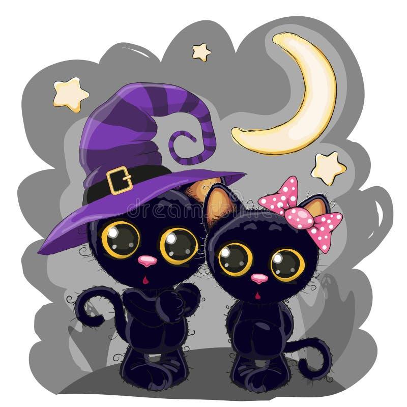 μαύρα γατάκια δύο ελεύθερη απεικόνιση δικαιώματος