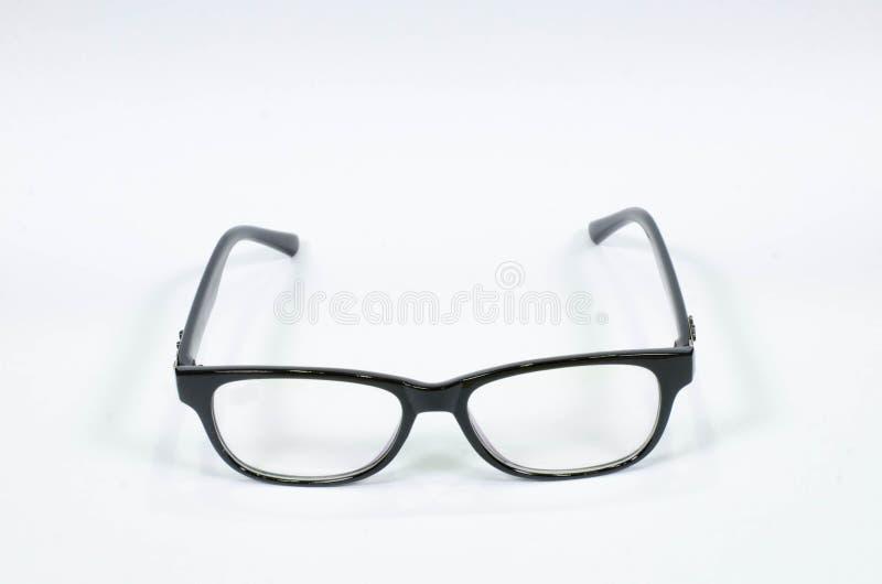 μαύρα γυαλιά η ανασκόπηση απομόνωσε το λευκό στοκ εικόνες