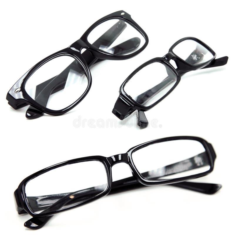 μαύρα ζευγάρια τρία γυαλ&iot στοκ εικόνα