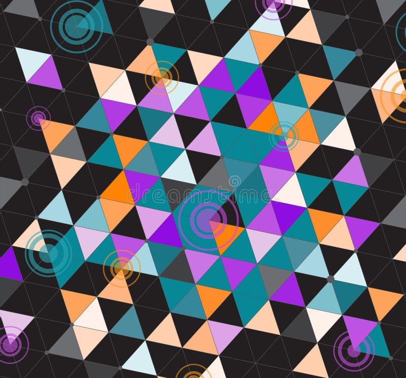 Μαύρα ζωηρόχρωμα τρίγωνα ελεύθερη απεικόνιση δικαιώματος