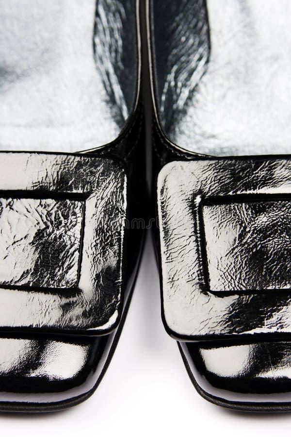 μαύρα θηλυκά παπούτσια στοκ φωτογραφίες με δικαίωμα ελεύθερης χρήσης