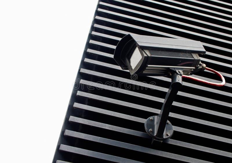 Μαύρα κάμερα παρακολούθησης ασφάλειας στοκ εικόνα