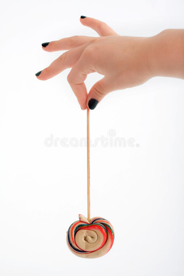 μαύρα καρφιά lollipop στοκ εικόνα