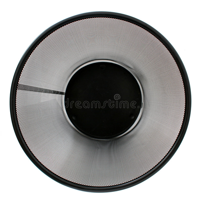 μαύρα κενά απορρίμματα πλέγματος καλαθιών στοκ φωτογραφία με δικαίωμα ελεύθερης χρήσης