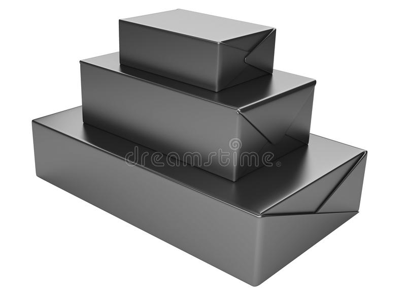 Μαύρα κουτιά απεικόνιση αποθεμάτων