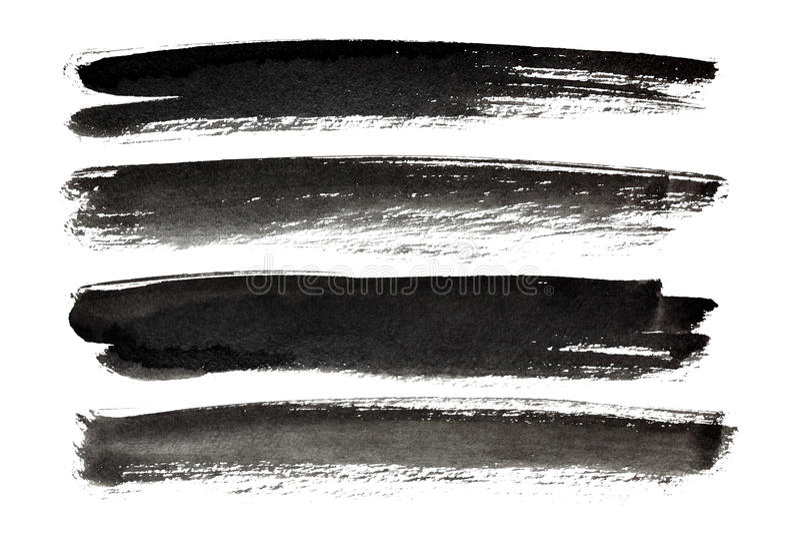Μαύρα κτυπήματα μελανιού διανυσματική απεικόνιση