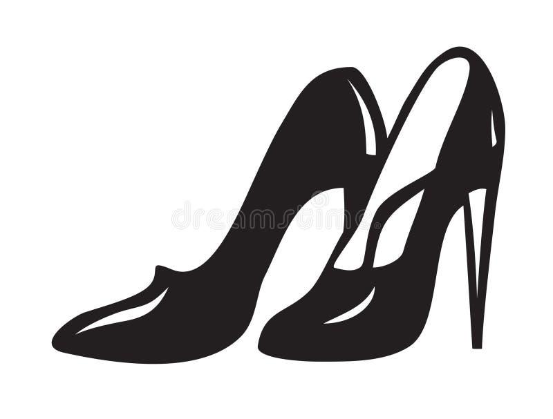 μαύρα παπούτσια ελεύθερη απεικόνιση δικαιώματος