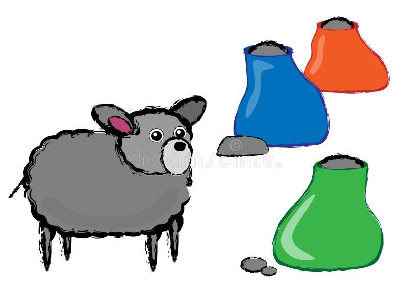 μαύρα πρόβατα απεικόνισης διανυσματική απεικόνιση