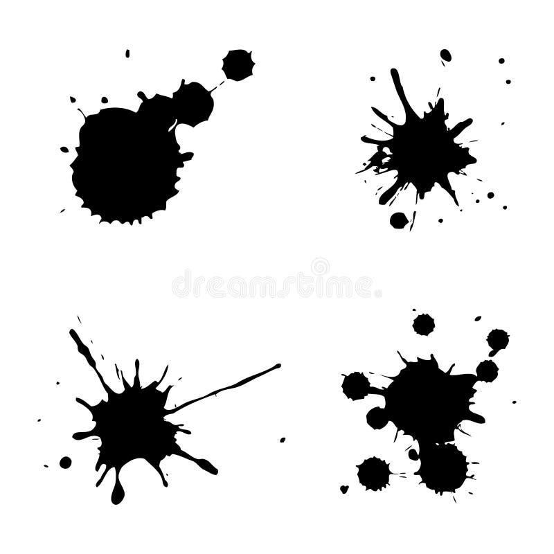 μαύρα σημεία μελανιού ελεύθερη απεικόνιση δικαιώματος