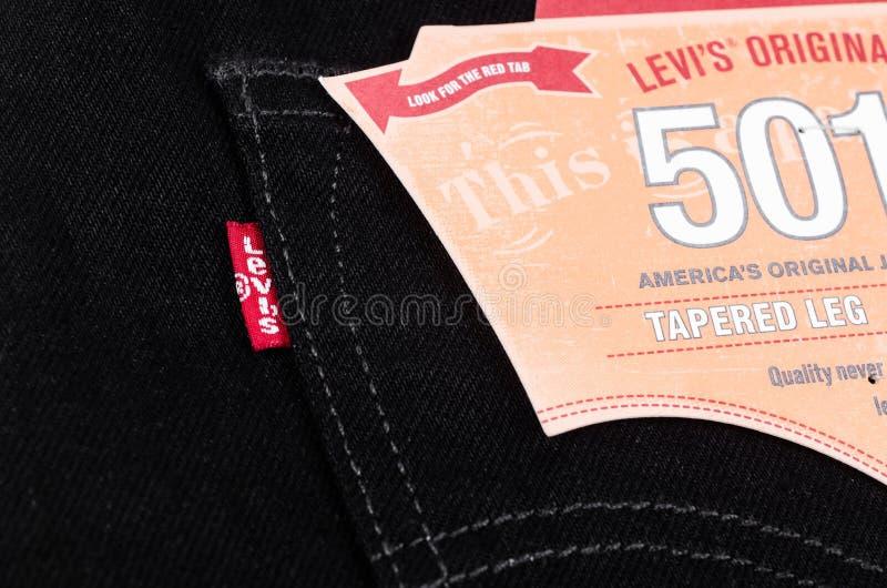 Μαύρα τζιν της Levi's στοκ φωτογραφία με δικαίωμα ελεύθερης χρήσης