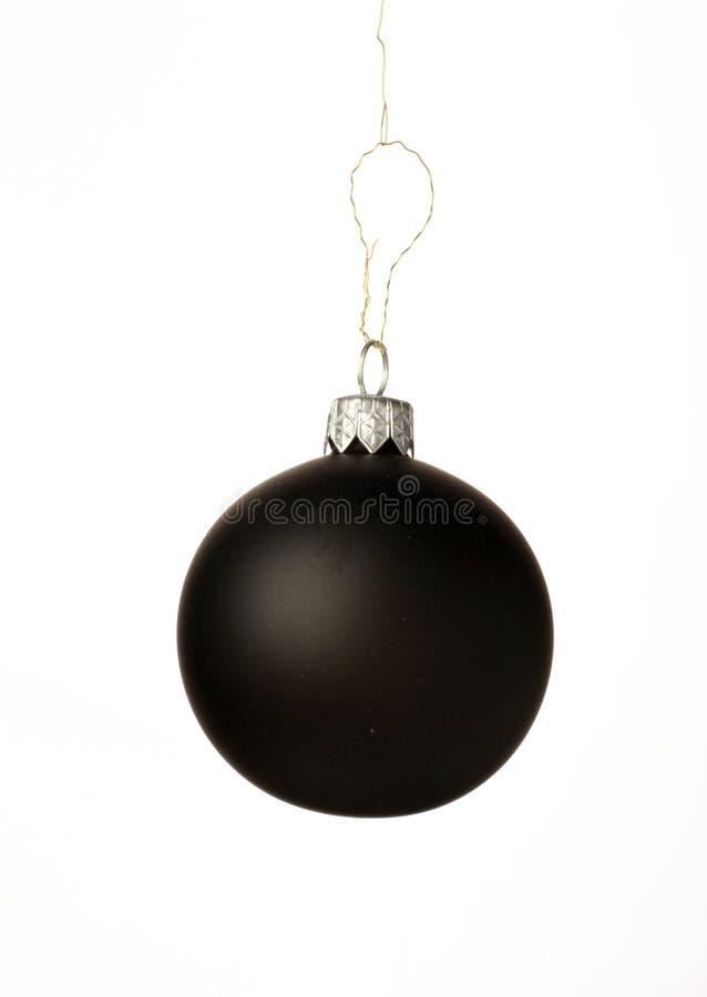 μαύρα Χριστούγεννα σφαιρών στοκ φωτογραφίες με δικαίωμα ελεύθερης χρήσης