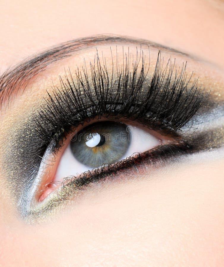 μαύρα eyelashes μακροχρόνια στοκ φωτογραφία με δικαίωμα ελεύθερης χρήσης